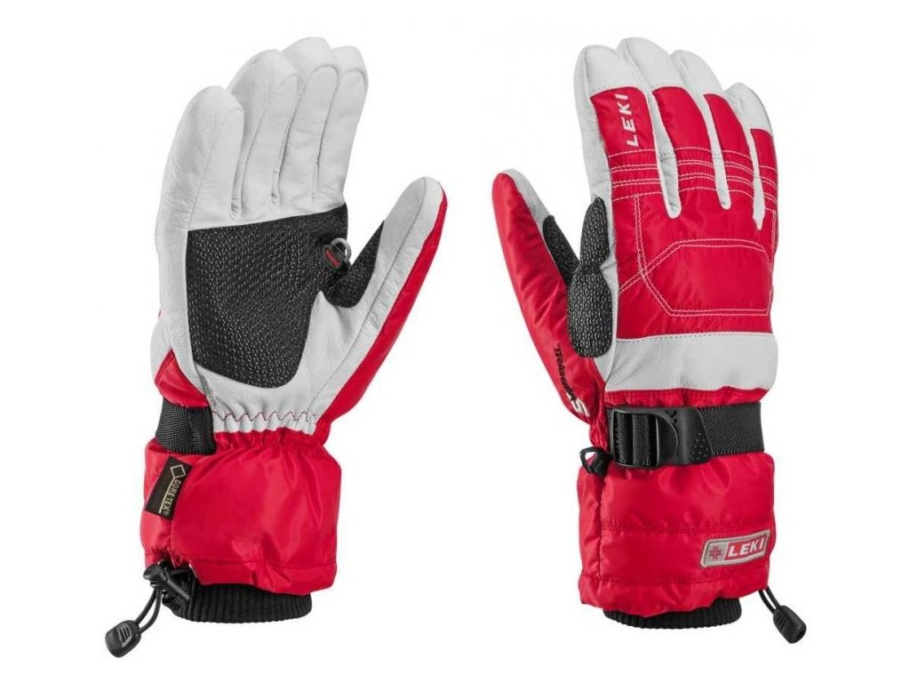 Leki Mountain Expedition S GTX red-white 63482053 (Velikost 7,5, Barva Red)