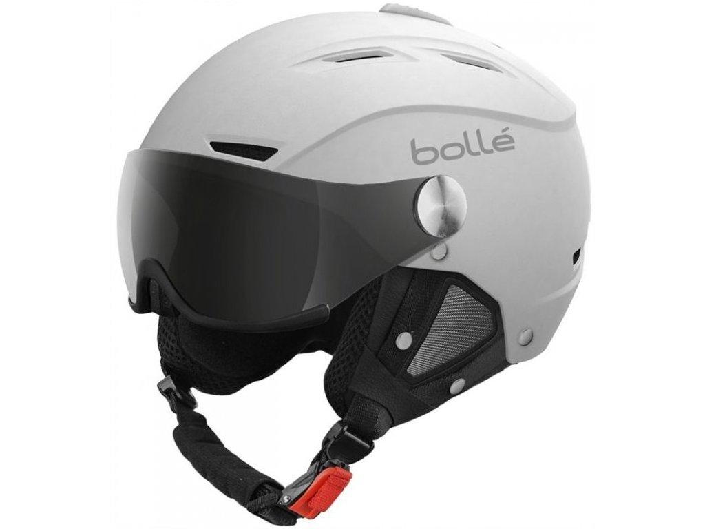 Bolle Backline Visor Soft White/Silver (Velikost 54-56 cm)