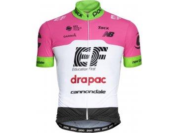 Cyklistický dres POC EF Jersey - Fluorescent Pink (Velikost oblečení L)