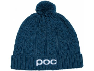 poc cable beanie antimony blue one size