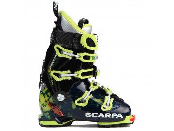 scarpa freedom sl alpine touring ski boots 2016 ink blue lime side