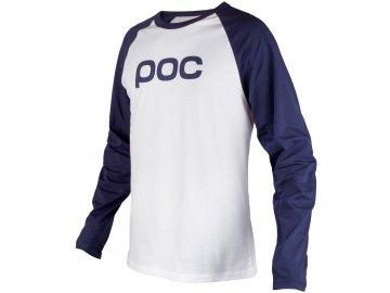 poc w16 raglan jersey dubnium blue hydrogen white