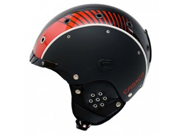 casco sp 3 racing black red helmet