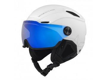 BOLLÉ V-LINE White Matte Photochromic Blue Mirror Lens Cat 1-3 20/21