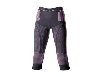 X-Bionic Accumulator EVO Women - Charcoal/Fuchsia dámské kalhoty 3/4 20242 (Velikost XS)