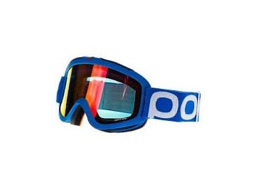 7857 1 poc iris x blue large clear with red mirror lens