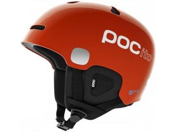 damske snowboardove helmy poc pocito auric cut spin fluorescent orange 3 thumb 1