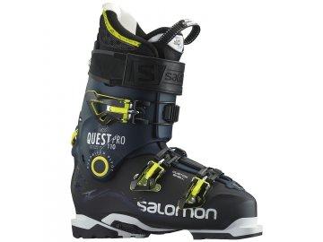 salomon quest pro 110 ski boots 2016 black dark blue side