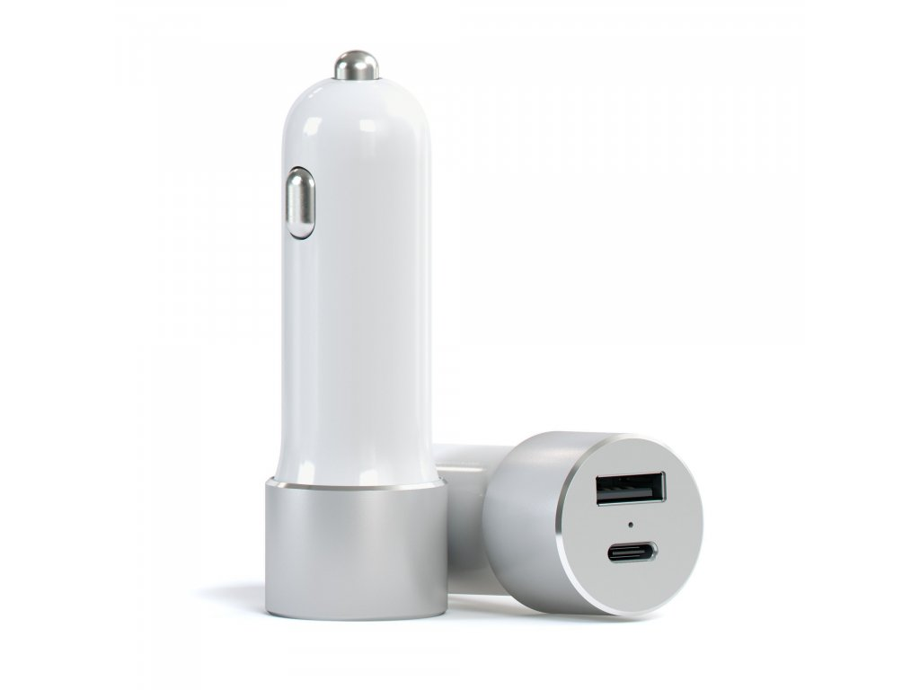 satechi typec car charger silver 1