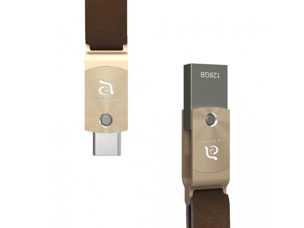 Adam Elements Roma 128 GB USB-C flash disk, Gold