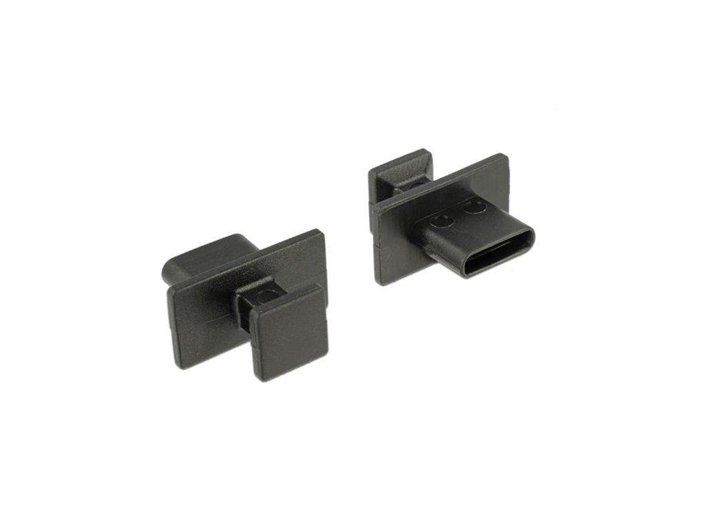 Delock Prachová záslepka pro USB Type-C samice s velkým uchopením 10 kusů černá
