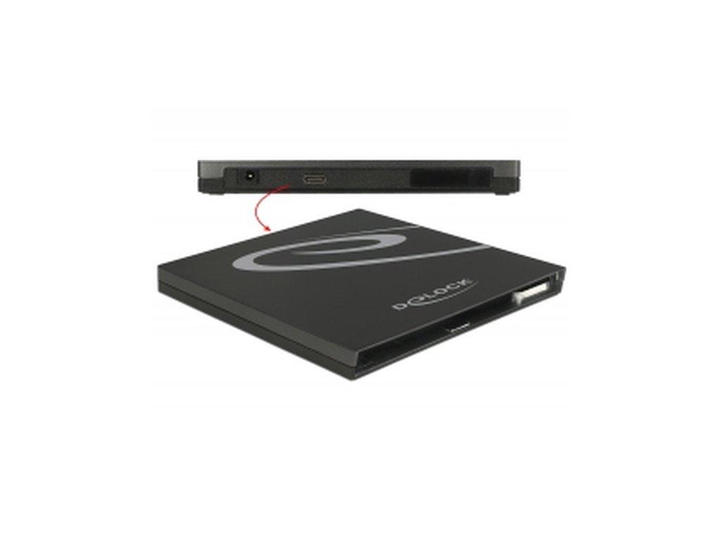 Delock Externí pouzdro pro Ultra Slim SATA jednotky 9,5 mm > USB Type-C™ samice