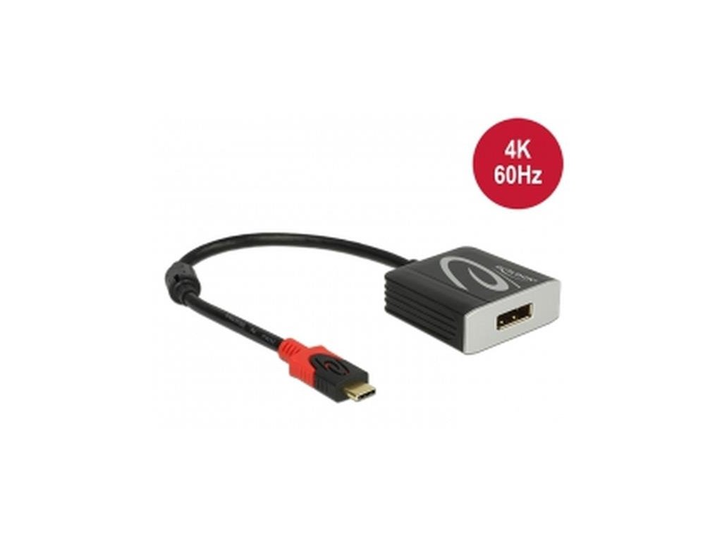 Delock Adaptér USB Type-C™ samec > Displayport samice (DP Alt Mód) 4K 60 Hz