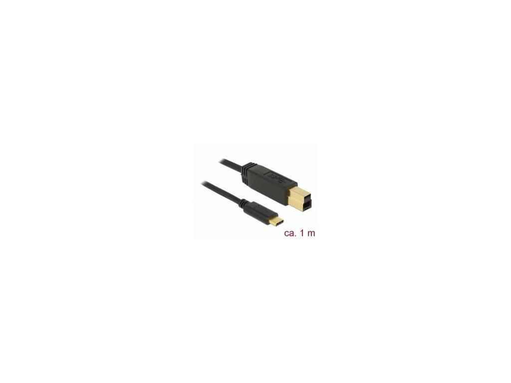 Delock USB 3.2 Gen 2 (10 Gbps) kabel Type-C na Typ-B 1 m