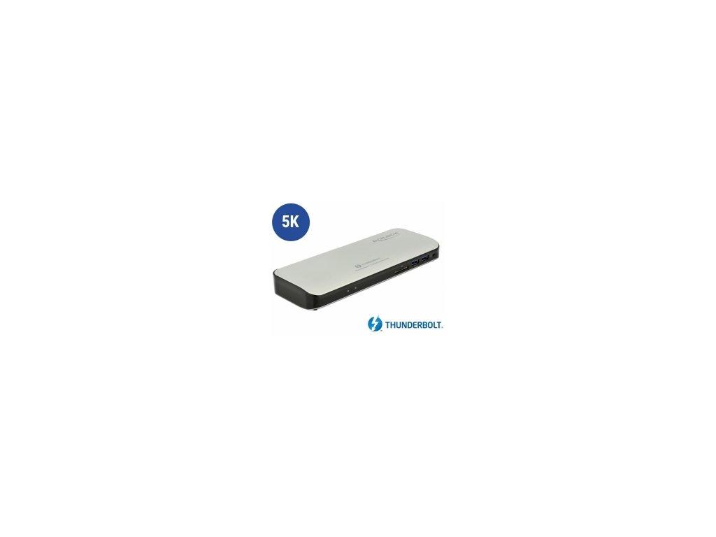 Delock Thunderbolt™ 3 dokovací stanice 5K - HDMI / USB 3.0 / USB-C™ / SD / LAN