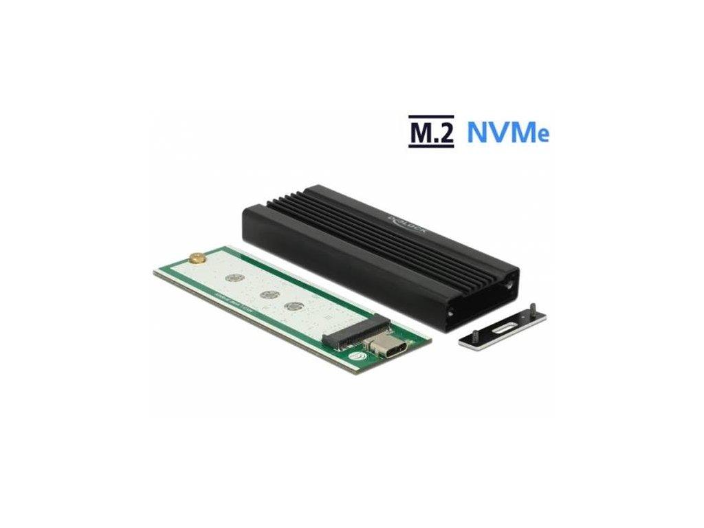 Delock Externí pouzdro pro M.2 NVMe PCIe SSD se SuperSpeed USB 10 Gbps (USB 3.2 Gen 2) USB Type-C samice