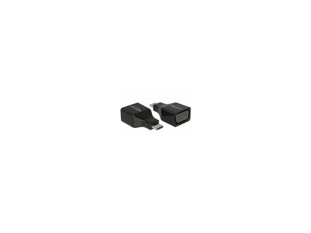 Delock Adaptér USB Type-C na VGA (DP Alt Mód)