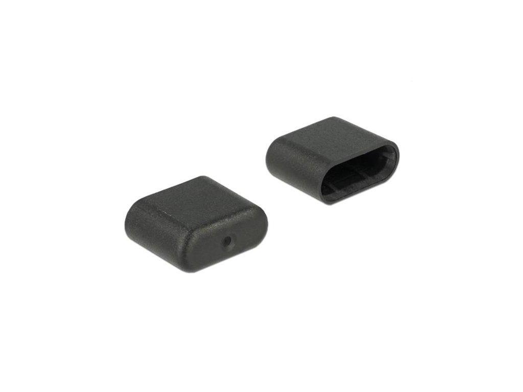 Delock Prachová záslepka pro USB Type-C samec 10 kusů černý