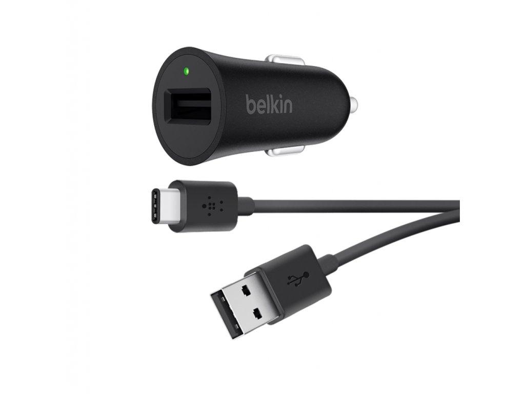 BELKIN USB-C rychlo autonabíječka + USB-C na USB-A kabel
