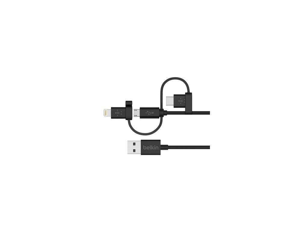 BELKIN USB-A TO MICRO USB/LTG/USB-C,4,CHRG/SYNC CABLE