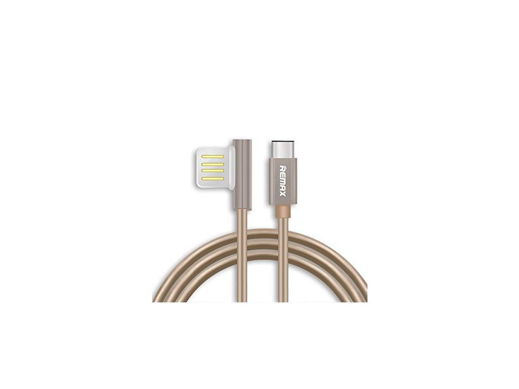 Remax RC-054a datový kabel Typ-C,zlatý