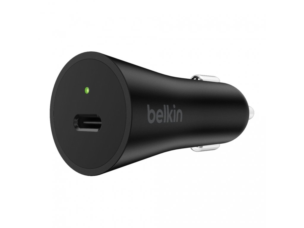 BELKIN 27W USB-C Power Delivery Car Charger, Black