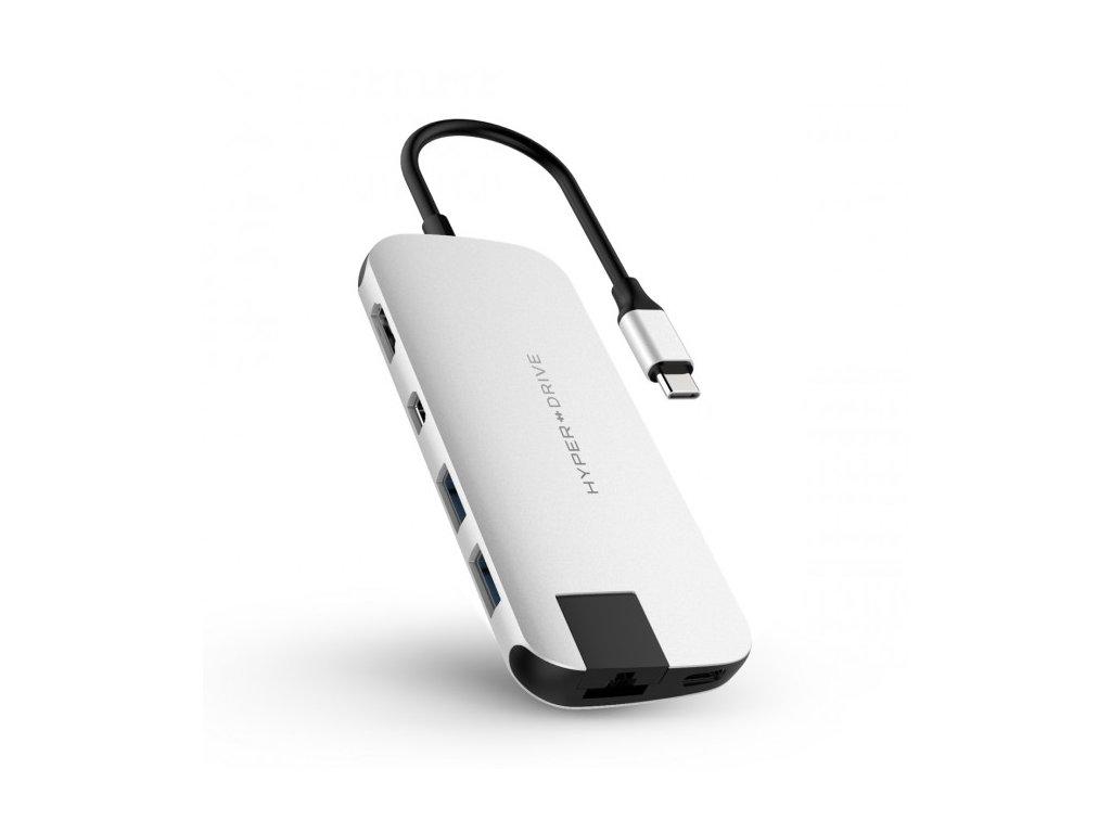 HyperDrive SLIM USB-C Hub - Střibrný