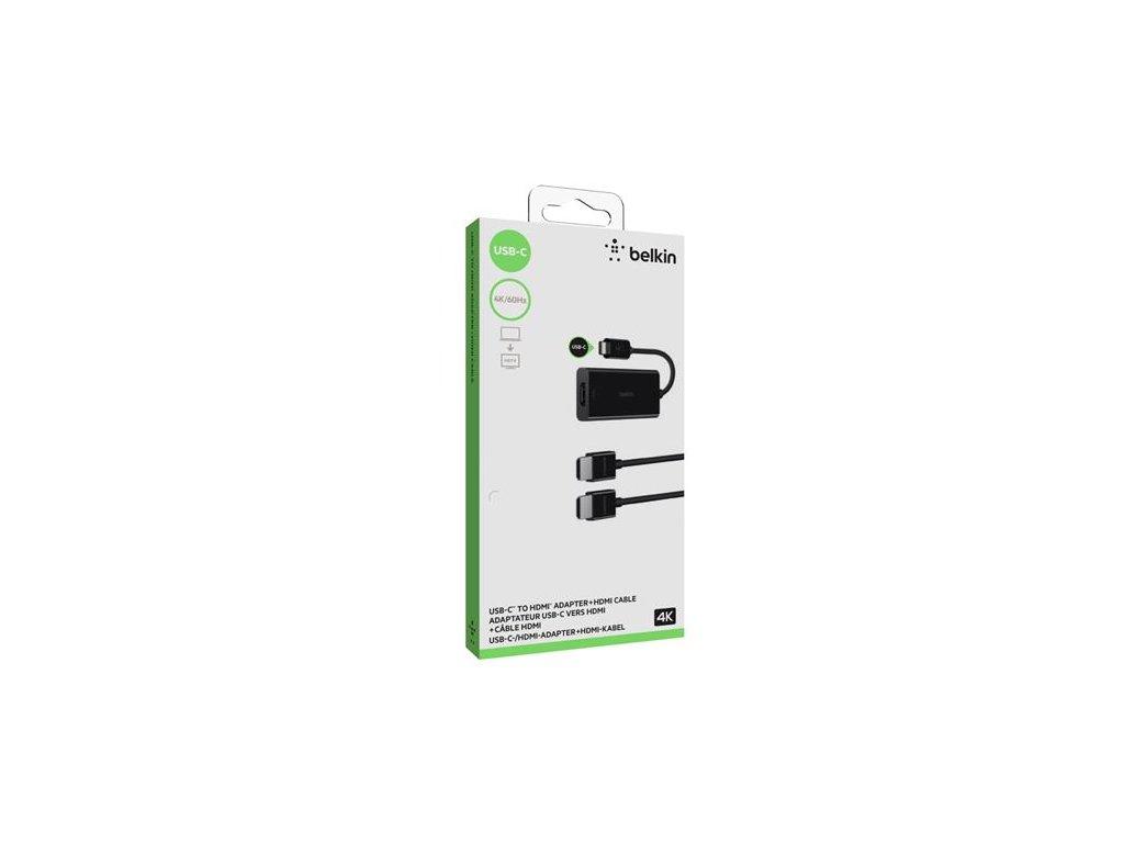 Belkin adaptér USB-C to HDMI  + HDMI 4K kabel 2m, černý