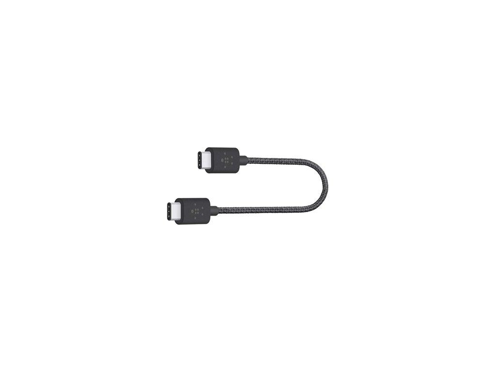 BELKIN MIXIT kabel USB-C to USB-C, 20cm, černý