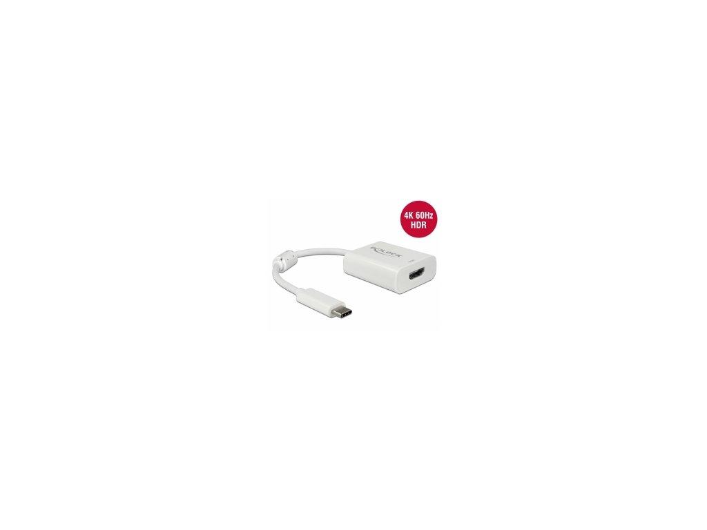 Delock USB-C samec > HDMI-A 19 pin samice 4K 60 Hz s HDR