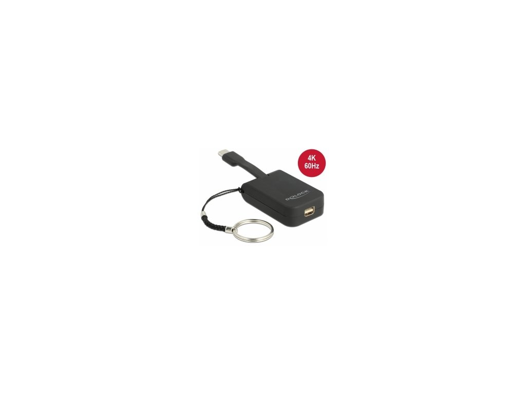 Delock Adaptér USB Type-C na mini DisplayPort (DP Alt Mód) 4K 60 Hz - klíčenka