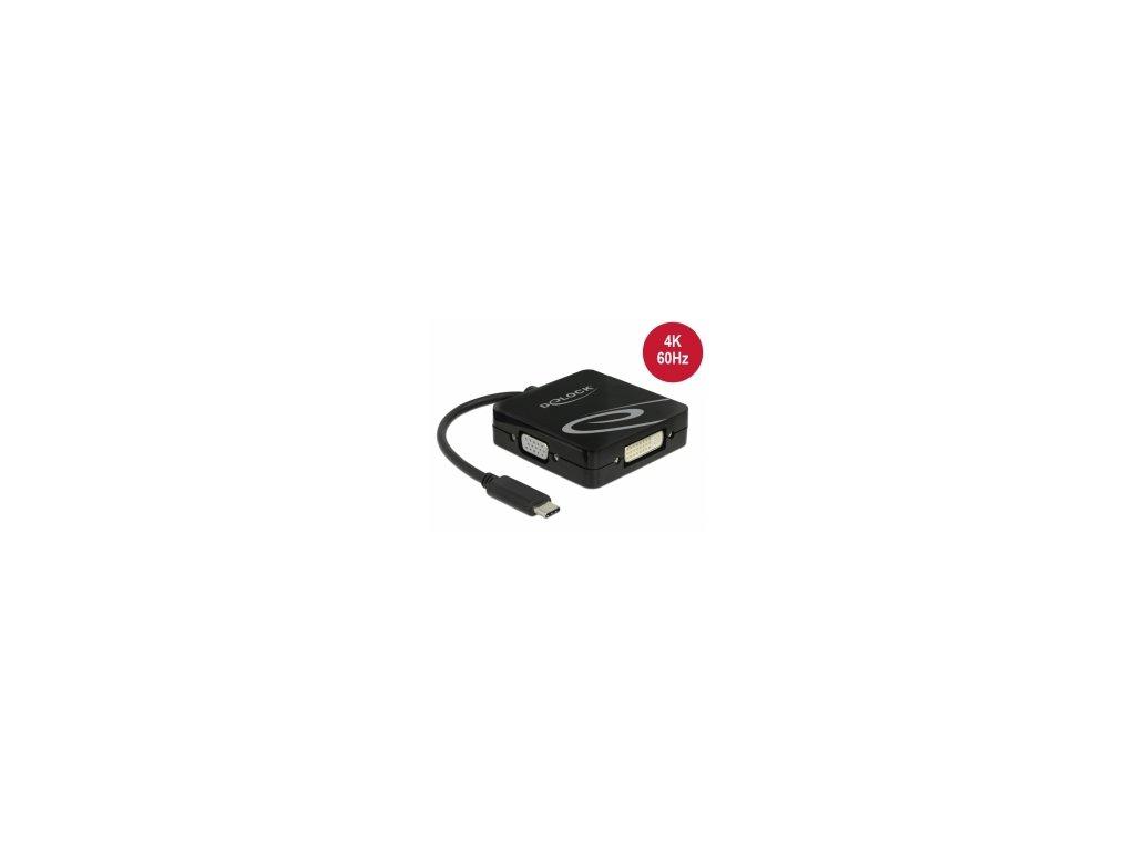 Delock USB Type-C adaptér pro monitor VGA, HDMI, DVI nebo DisplayPort