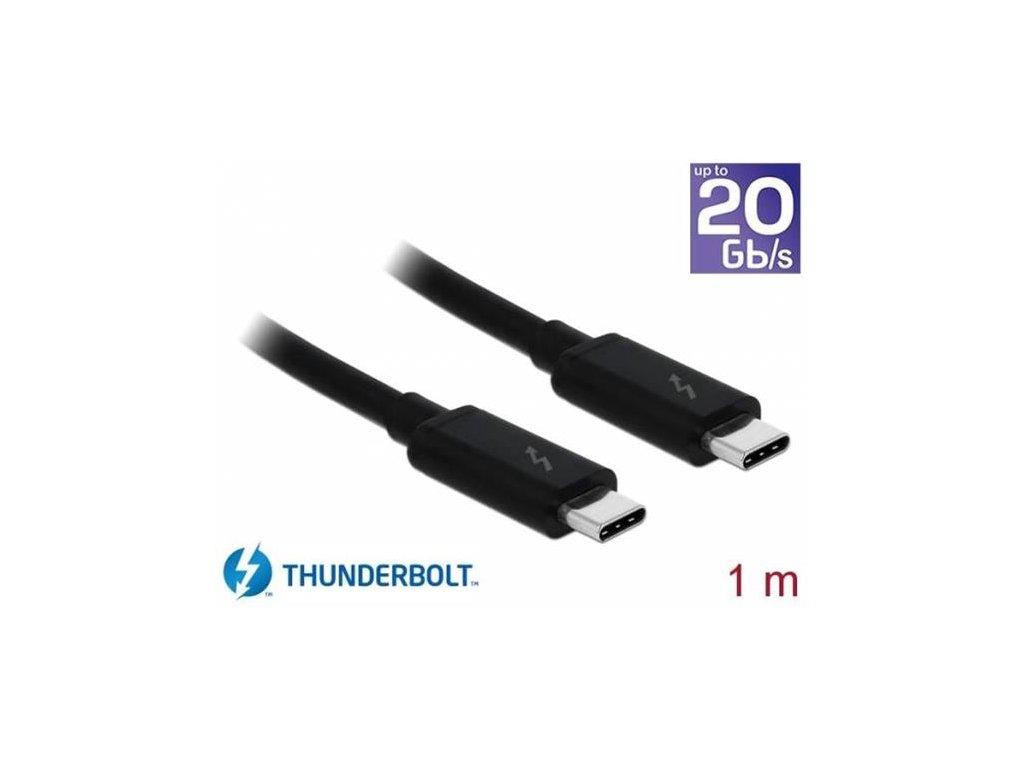 Delock Thunderbolt 3 (20 Gb/s) USB-C kabel samec > samec pacivní 1,0 m 5 A černý