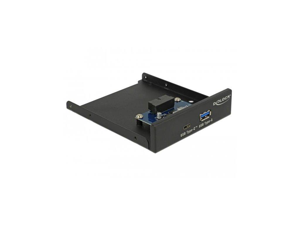 "Delock 3.5"" USB 3.2 Gen 1 Front Panel 1 x USB Type-C + 1 x USB Typ-A"