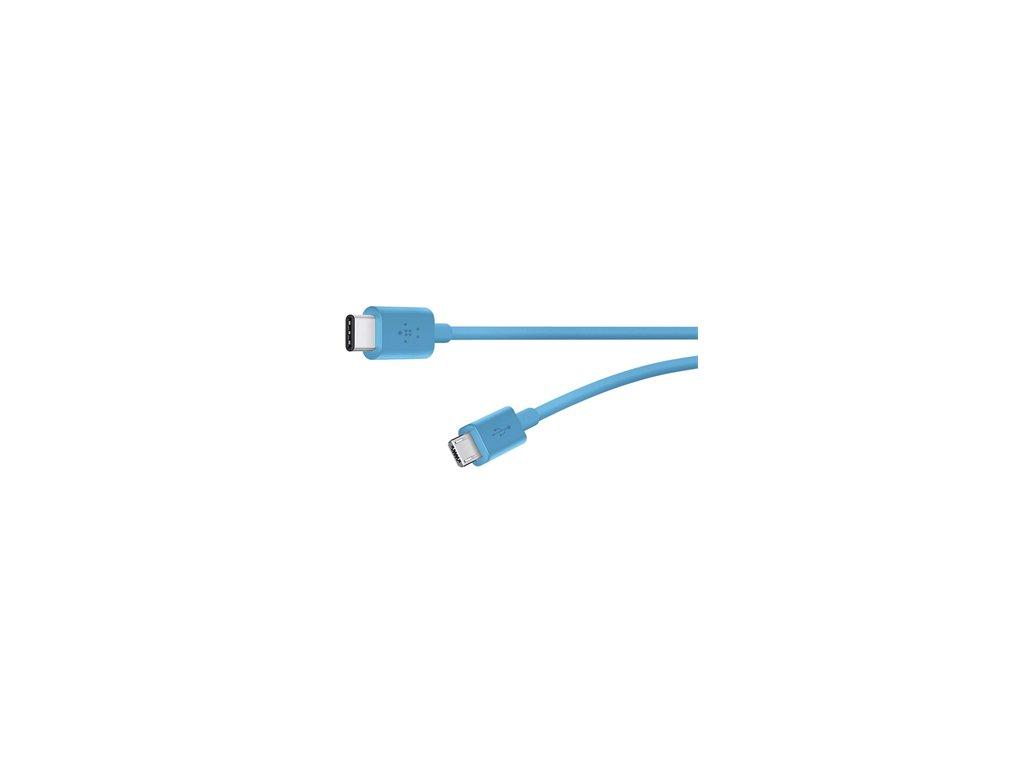 BELKIN MIXIT kabel USB-C to MicroUSB, 1.8m, modrý