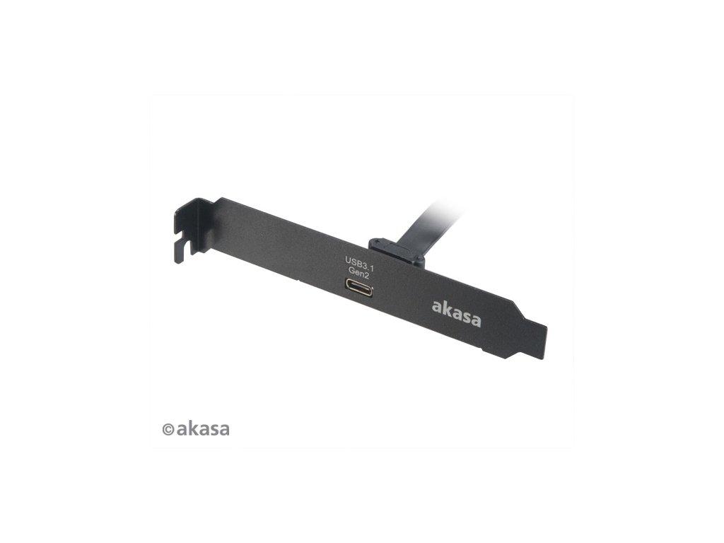 AKASA - USB 3.2 gen 2 Typ C PCI záslepka