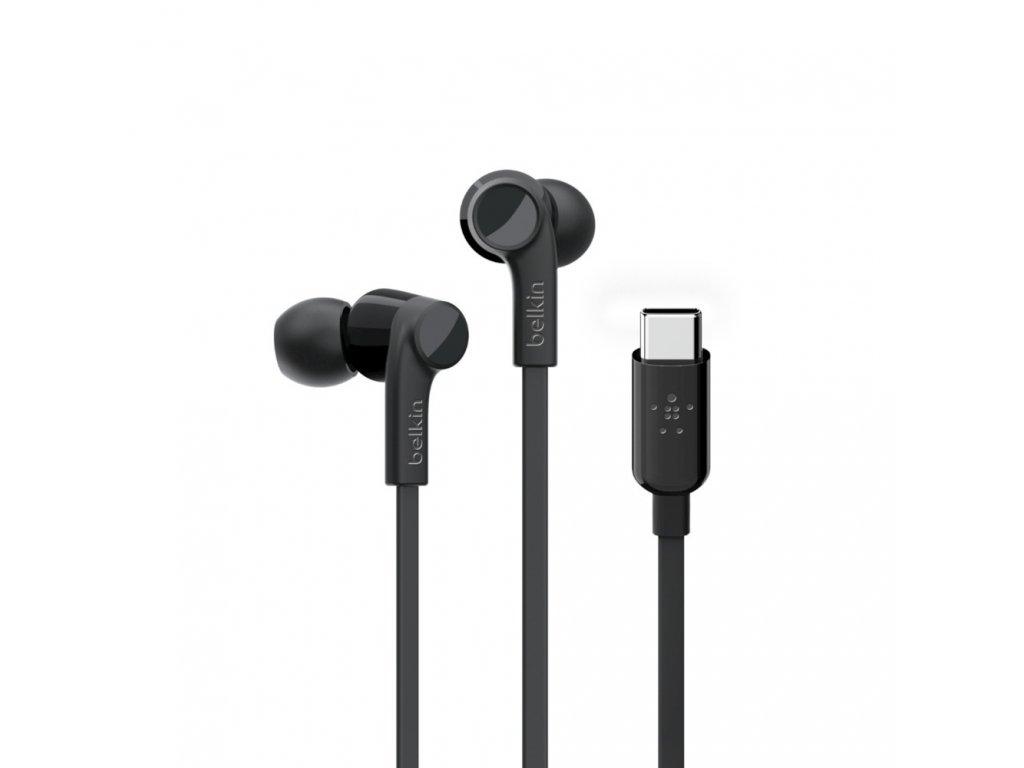 BELKIN USB-C sluchátka černá