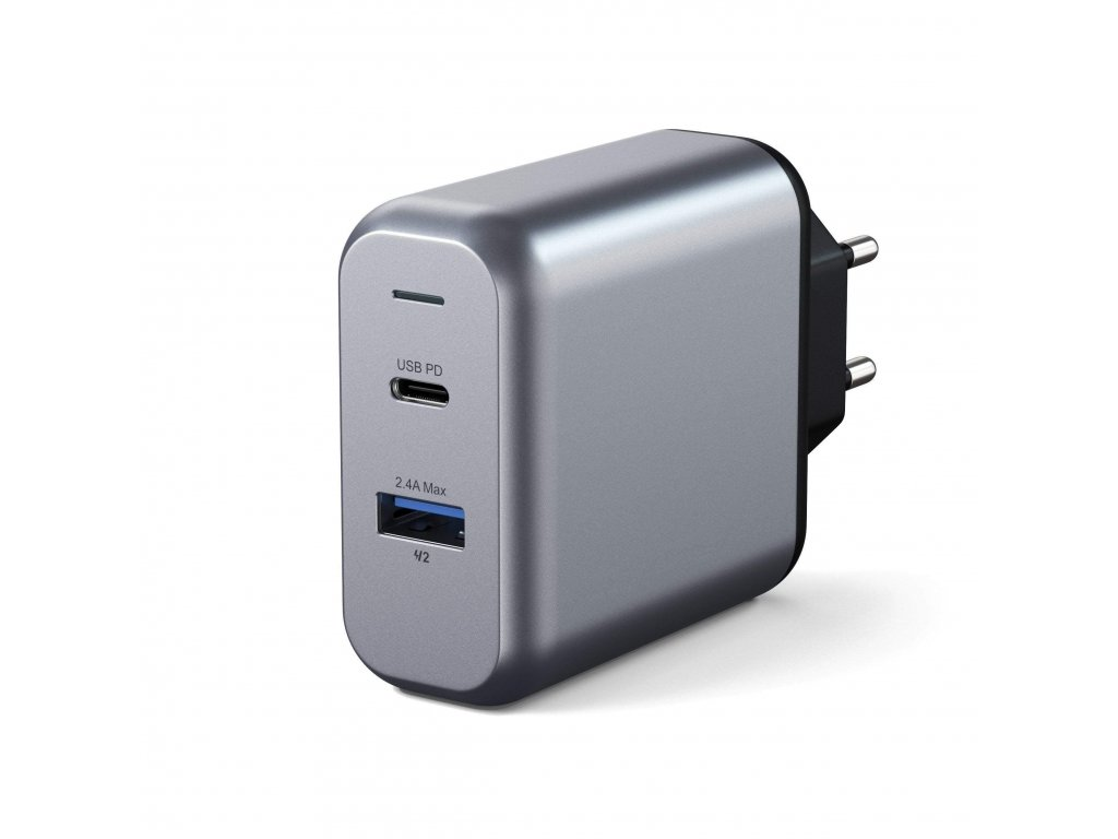 30w dual port wall charger wall chargers satechi 932015