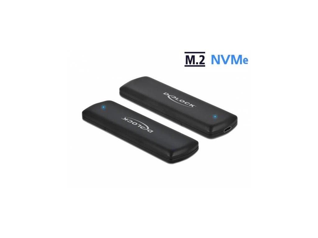 Delock Externí skříň pro M.2 NVMe PCIe SSD se USB Type-C samice - beznástrojový