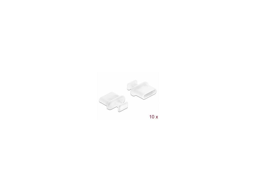 Delock Prachová záslepka pro USB Type-C samice, s uchopením, 10 kusu, bílá