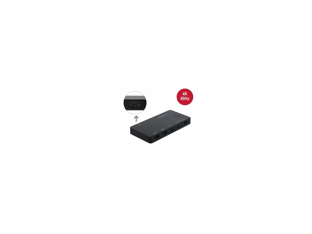 Delock HDMI / USB-C KVM Switch 4K 60 Hz s USB 2.0