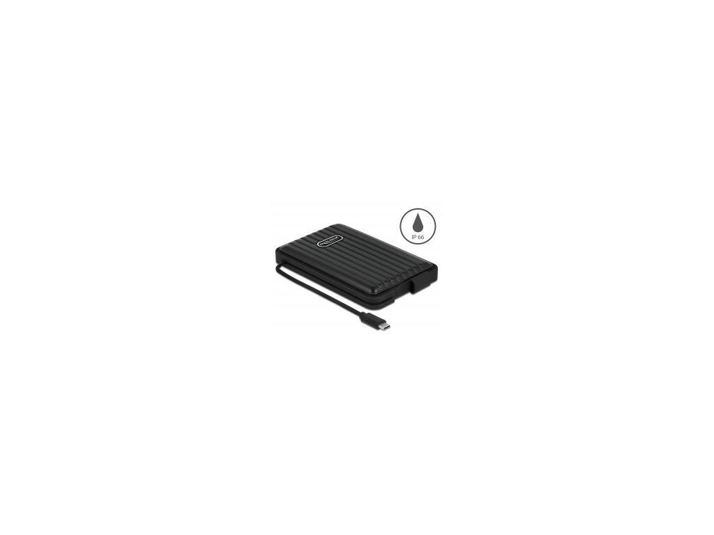 "Delock Externí pouzdro pro HDD / SSD SATA 2.5"" s USB Type-C - IP66"