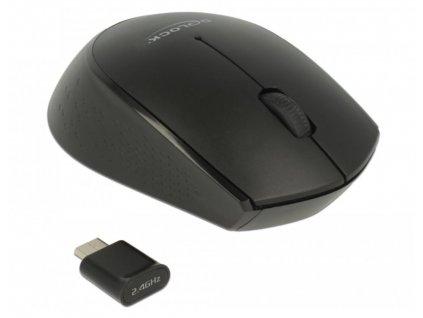 Delock Optická 3-tlačítková mini myš USB Type-C 2.4 GHz bezdrátová