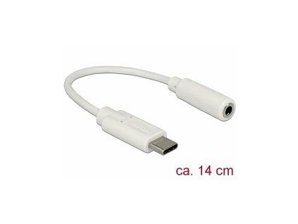 Delock Audio adaptér USB Type-C samec > Stereo Jack samice 14 cm