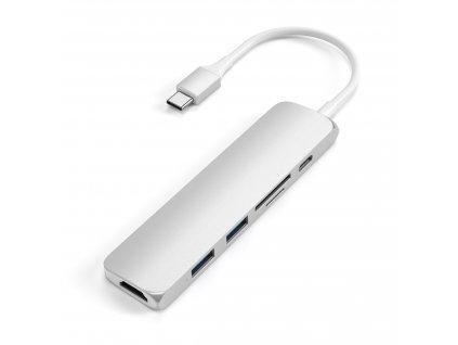 SATECHI TypeC Slim Adapter NEW silver 1