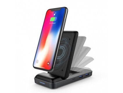 HyperDrive USB-C Hub + 7.5W Wireless Charger