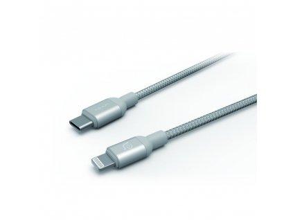 Adam Elements PeAk II C120B USB-C Lightning kabel, 1.2 m, stříbrný