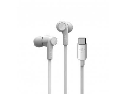 BELKIN USB-C sluchátka bílá