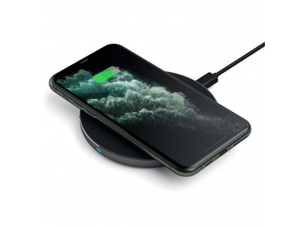 aluminum type c pd qc wireless charger charging stations satechi space gray 456117