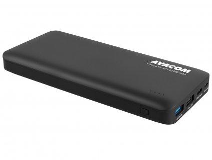 Power Bank AVACOM PRISMA GT-20, Li-Ion 20000mAh, USB-C, QC vstup a výstup, černá